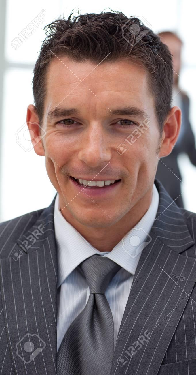 Close-up of an attractive businessman Standard-Bild - 10089912