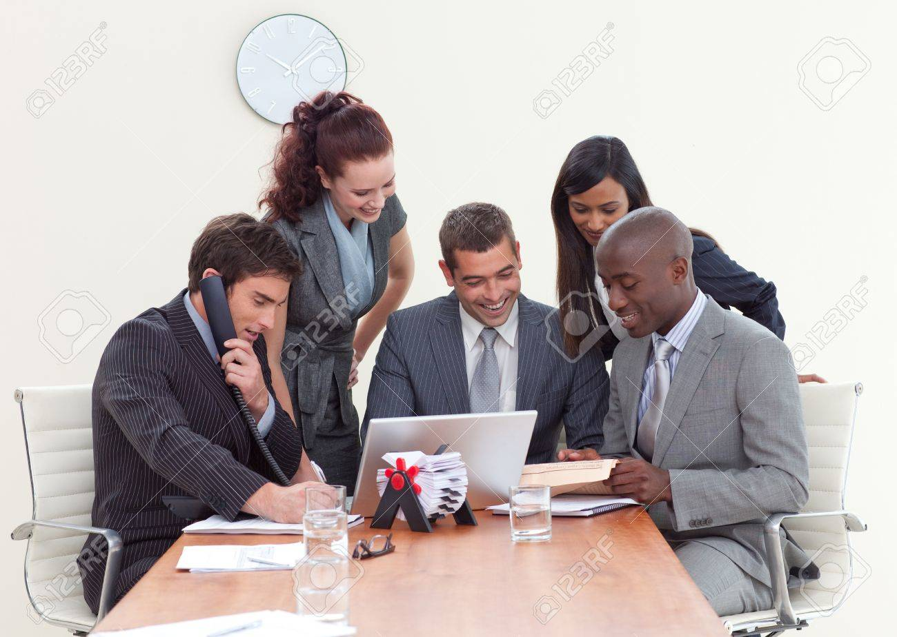 Group of people working in a business meeting Stock Photo - 10095318