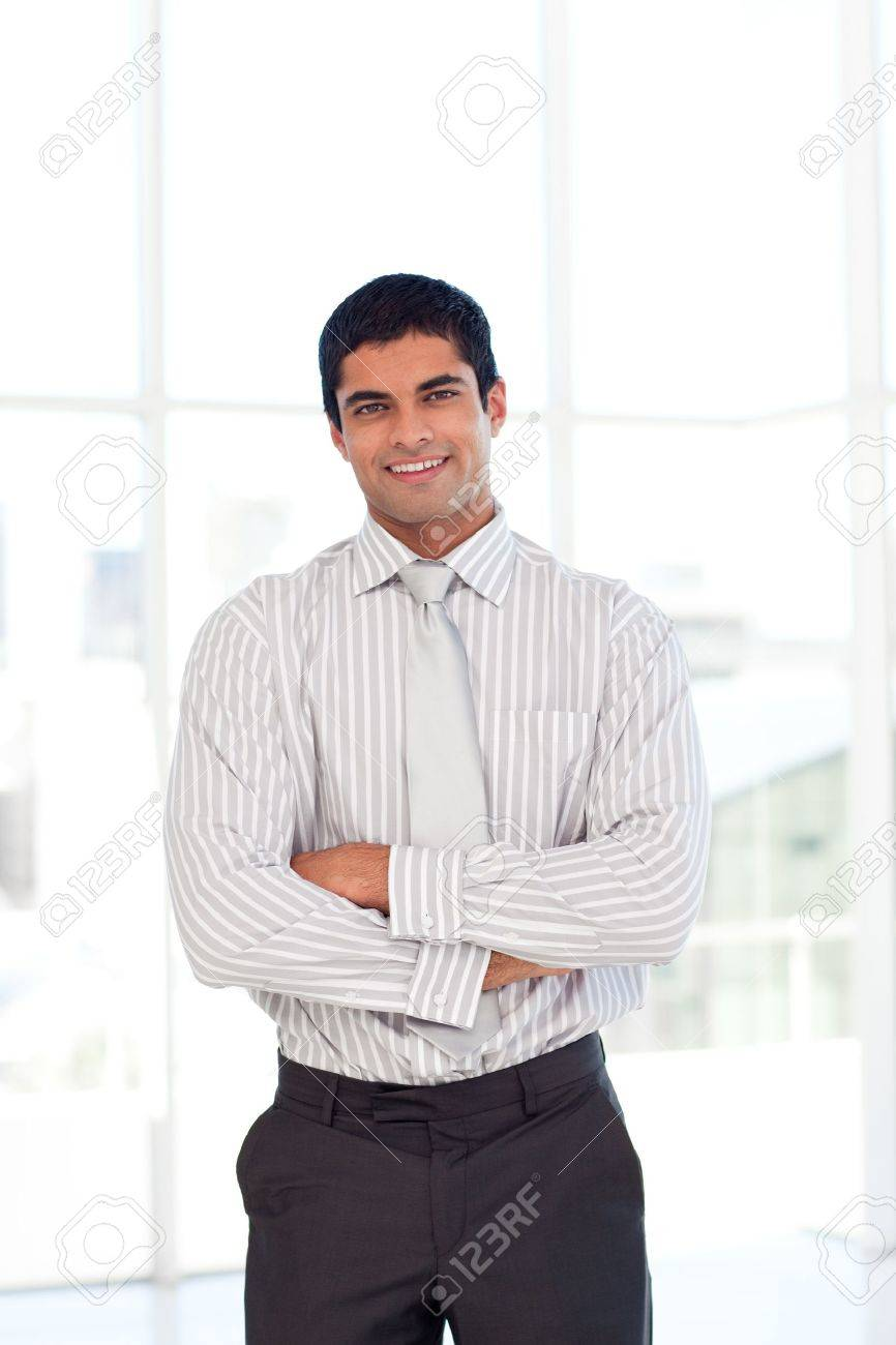 Businessman with folded arms Stock Photo - 10096533