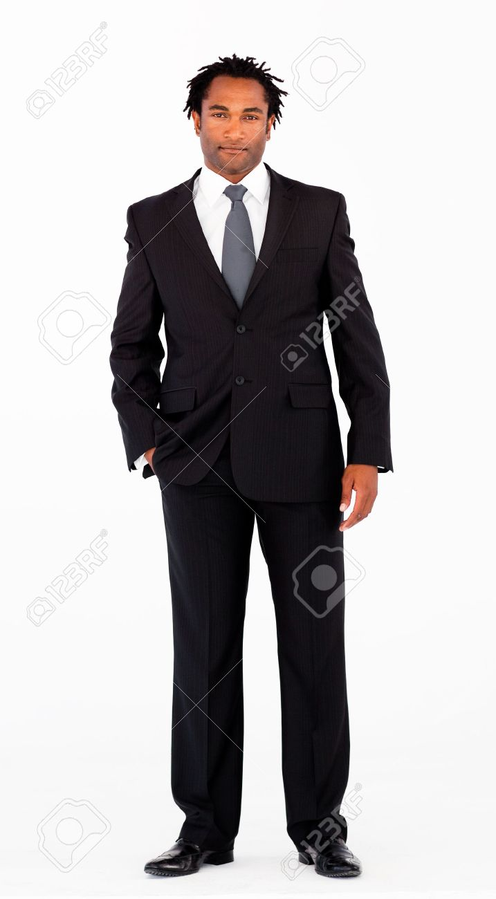Serious businessman standing in front of camera Stock Photo - 10109044