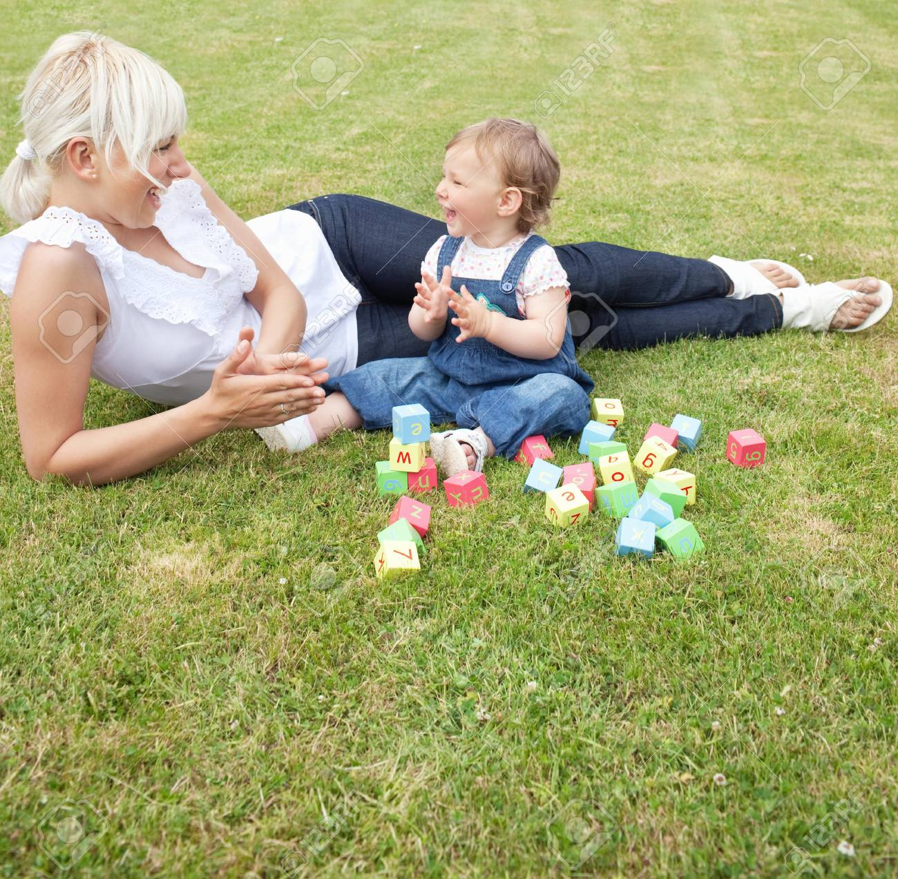 Laughing mother and child Stock Photo - 10070568