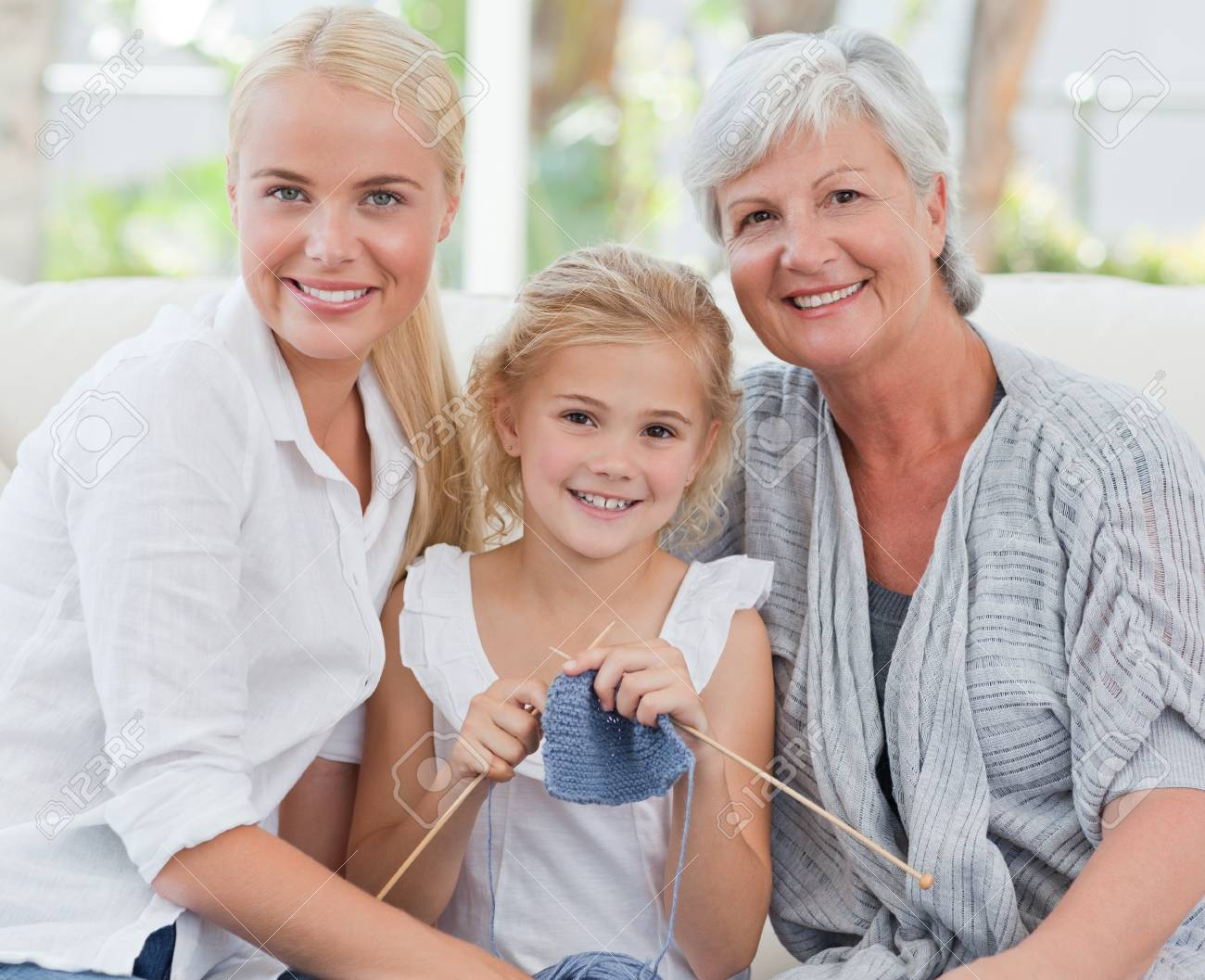 Happy woman  looking at the camera in a hospital Stock Photo - 10217506