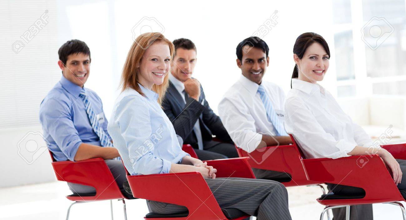Portrait of business people at a conference Stock Photo - 10218016
