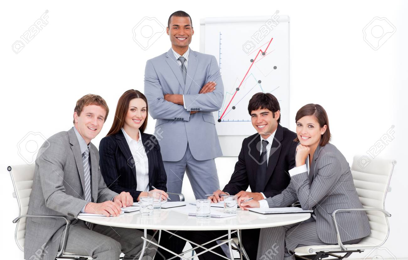 Charming manager giving a presentation Stock Photo - 10256664