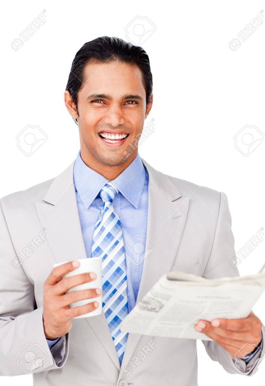 Portrait of a successful businessman punching the air Stock Photo - 10259344