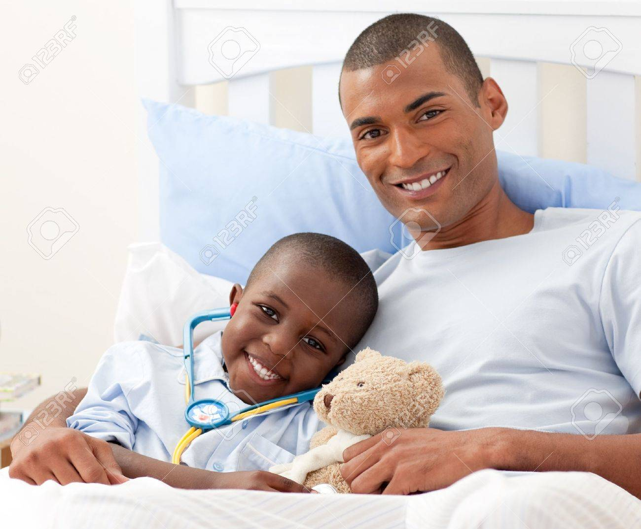Father with his sick child Stock Photo - 10221882
