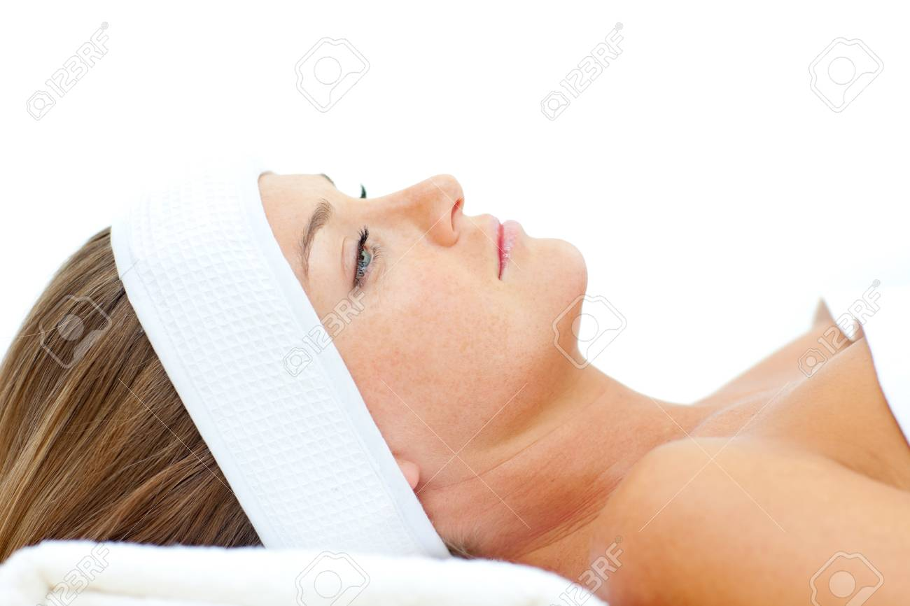 Thoughtful woman after a spa treatment Stock Photo - 10255926