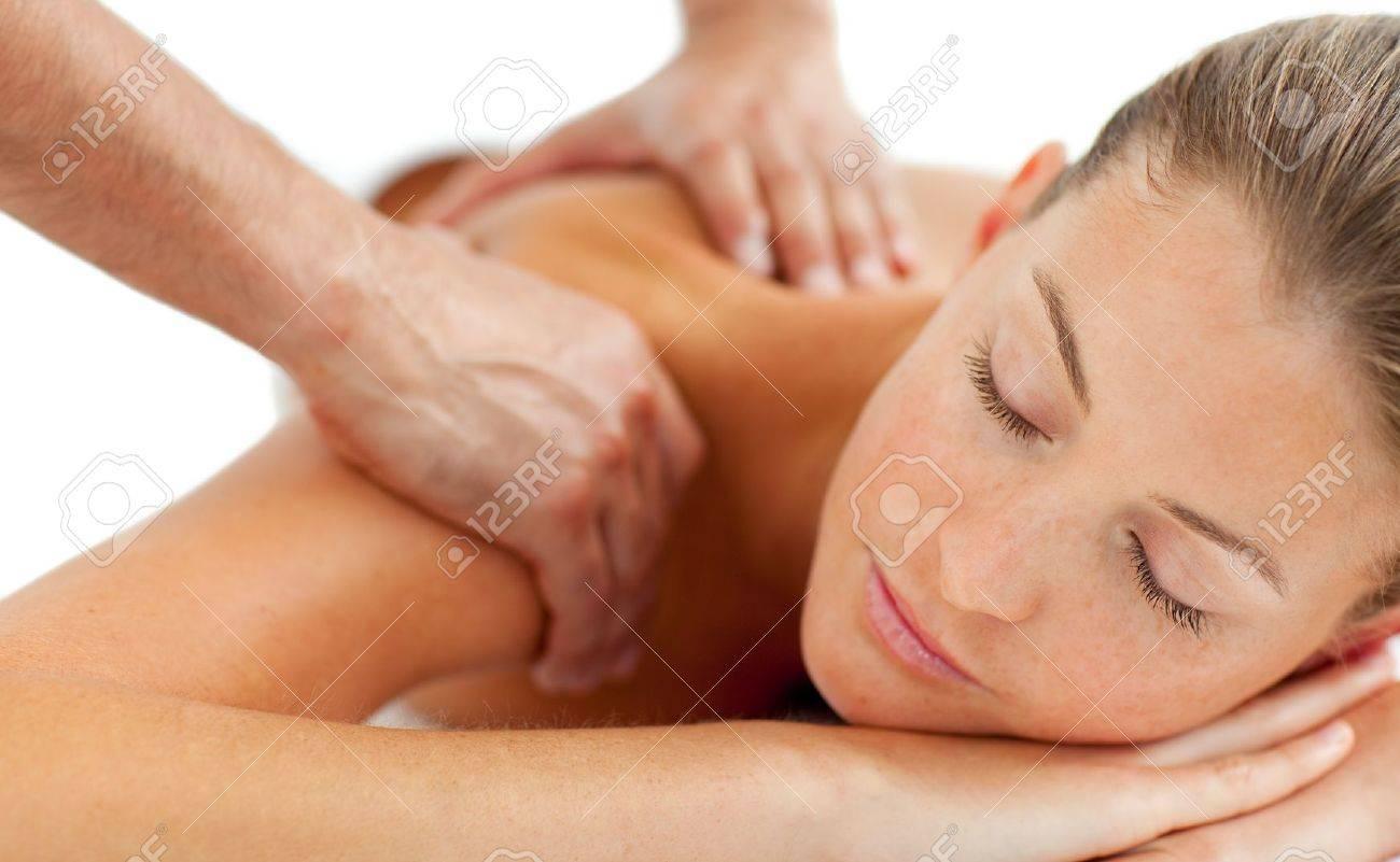 Beautiful woman enjoying a massage Stock Photo - 10258196