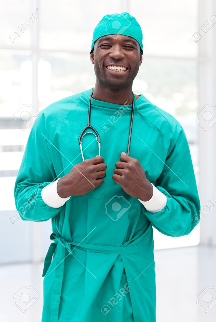 Attractive male doctor looking at the camera Stock Photo - 10250409