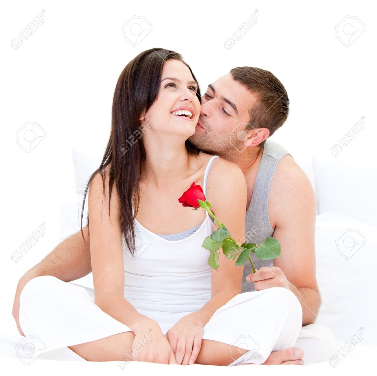 Charming couple making a kiss Stock Photo - 10249169