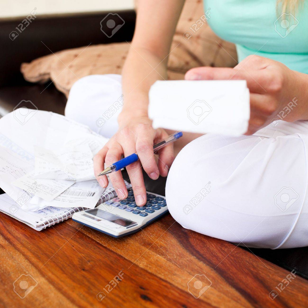 Young woman doing accountancy Stock Photo - 10249142