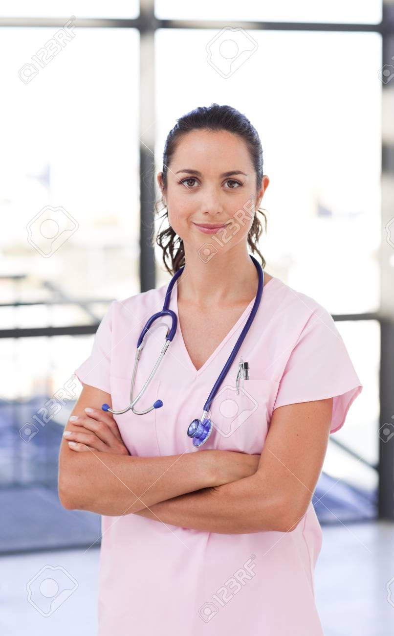 Portrait of an attractive young doctor Stock Photo - 10233819