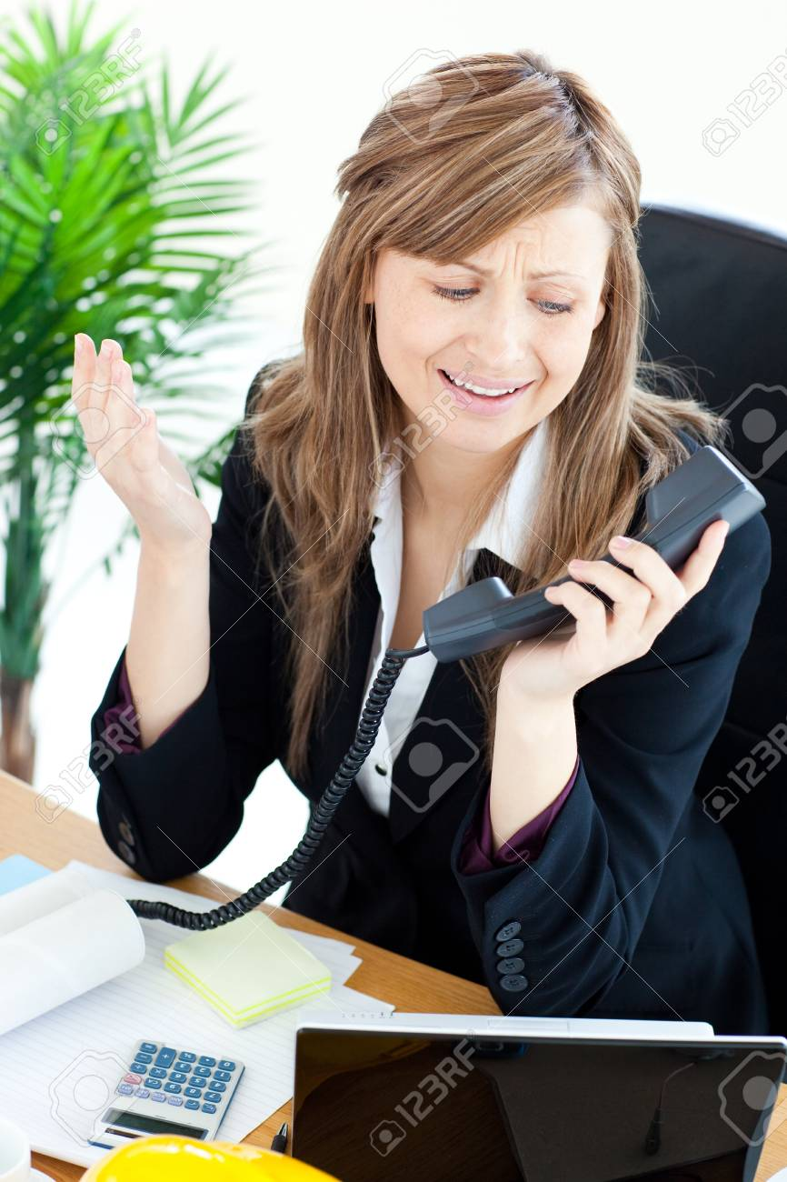 Assertive businesswoman on phone Stock Photo - 10248880