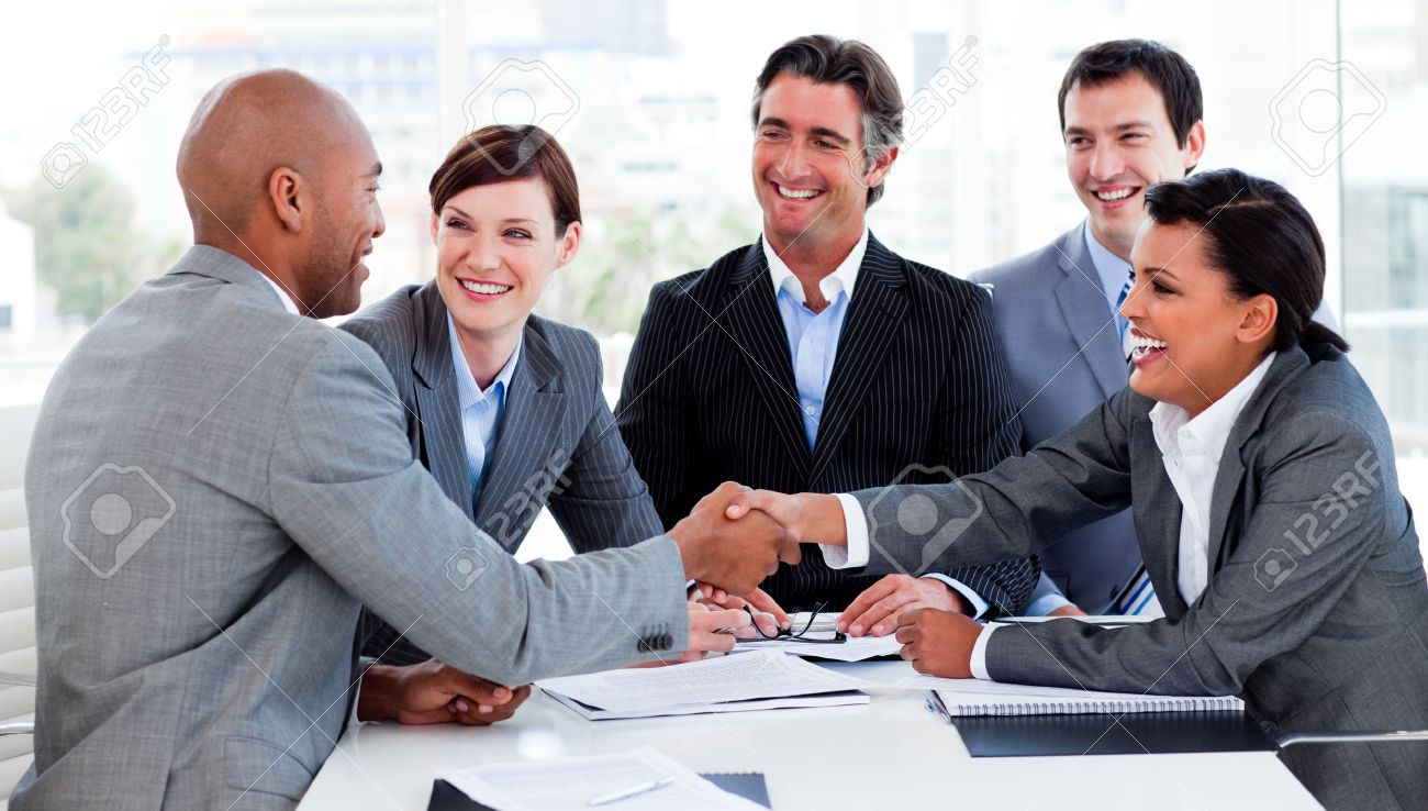 Multi ethnic business people greeting each other stock photo multi ethnic business people greeting each other stock photo 10248106 m4hsunfo