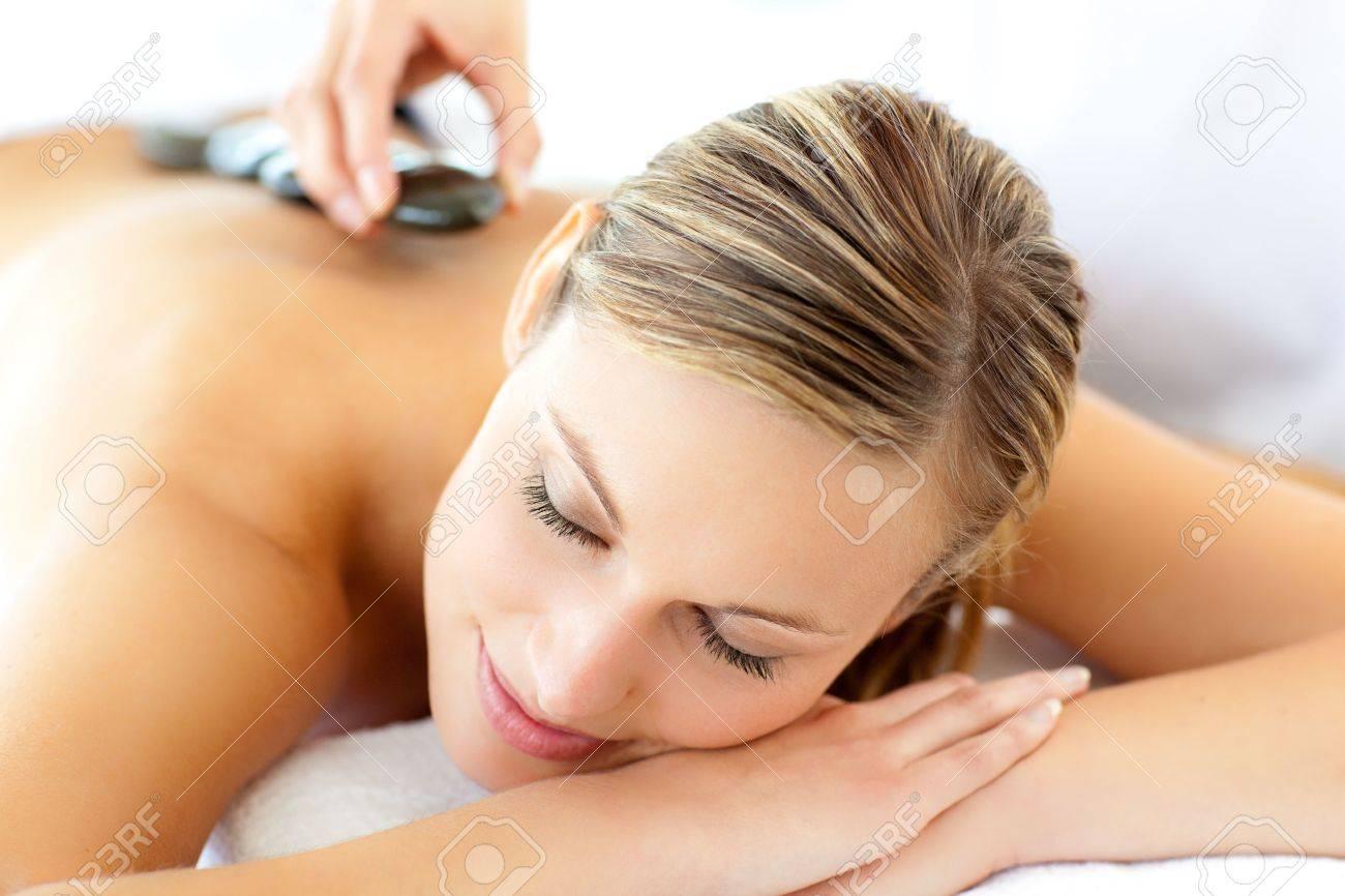 Attractive woman having a massage Stock Photo - 10249897
