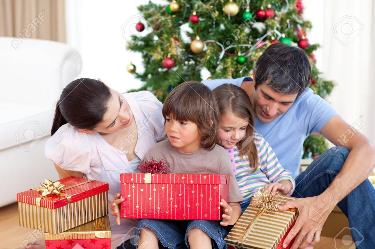 Family Christmas portrait Stock Photo - 10248860