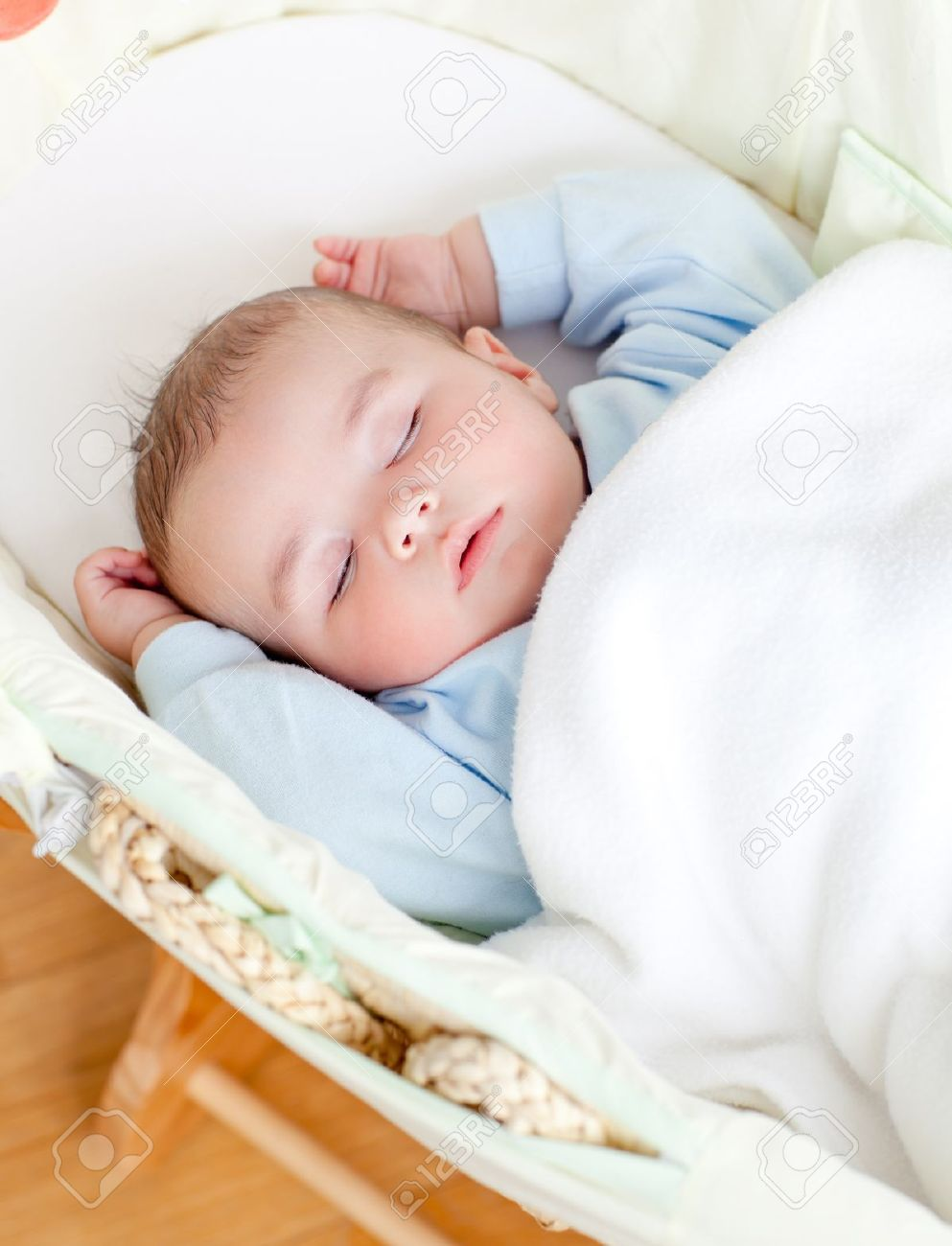 Ordinaire Adorable Baby Sleeping In His Bed Stock Photo   10241518