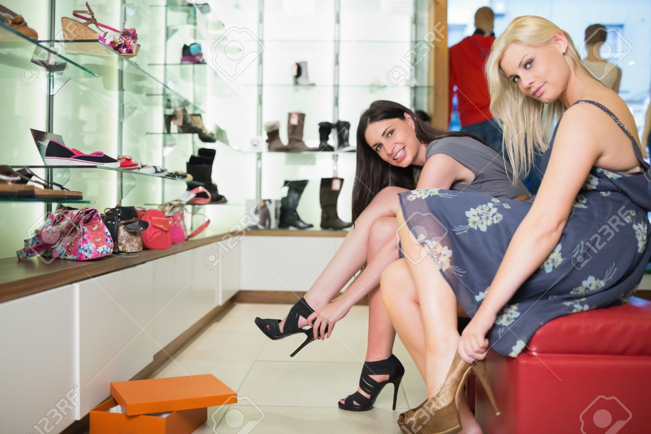 Women shoe shopping. Shoes for men online