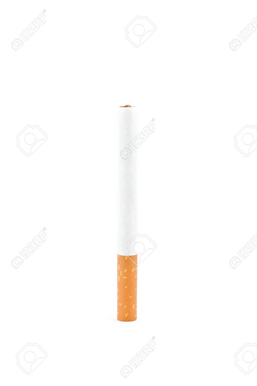 Close up of a cigarette against a white background Stock Photo - 16198126