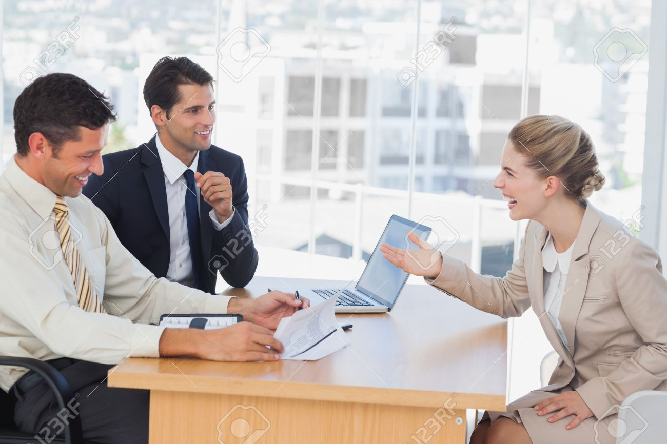 business people laughing interviewee in office stock photo business people laughing interviewee in office stock photo 20591388