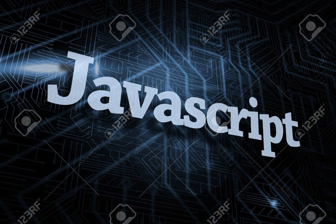 Background image javascript - The Word Javascript Against Futuristic Black And Blue Background Stock Photo 26800462