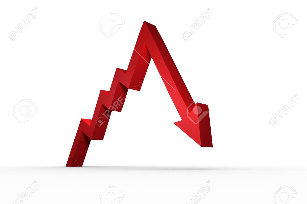 Arrow Pointing Down >> Red Arrow Pointing Down Stock Photo Picture And Royalty Free Image