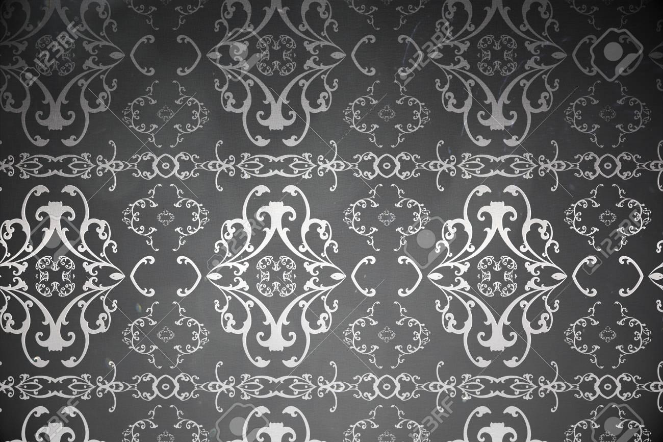 Digitally Generated Elegant Patterned Wallpaper In Grey