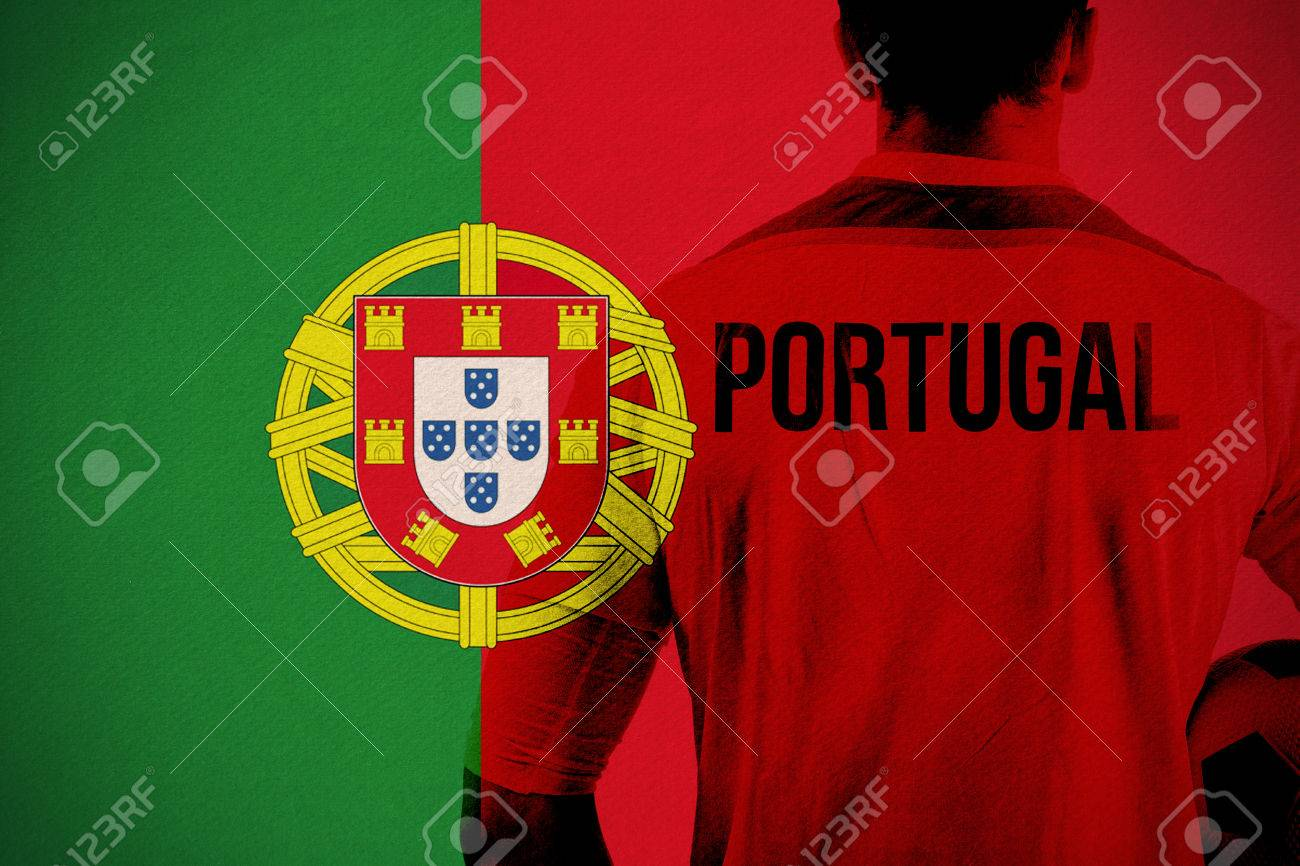 Portugal Football Player Holding Ball Against Portugal National Flag Stock Photo Picture And Royalty Free Image Image 29047637