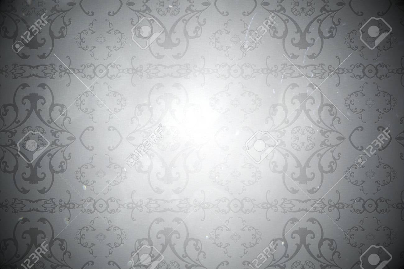 Digitally Generated Elegant Patterned Wallpaper In Grey Tones