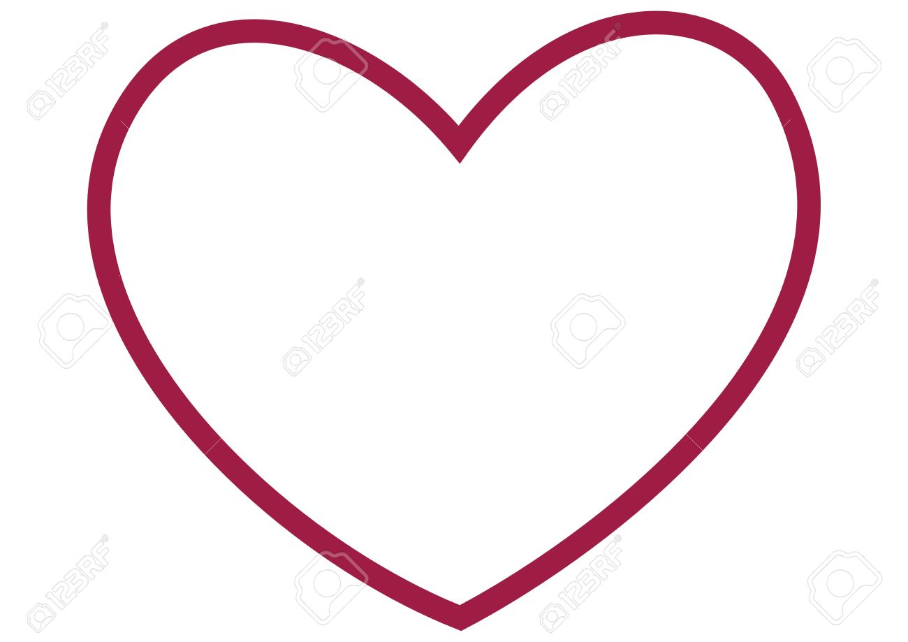 Large Heart Outline Stock Photo Picture And Royalty Free Image