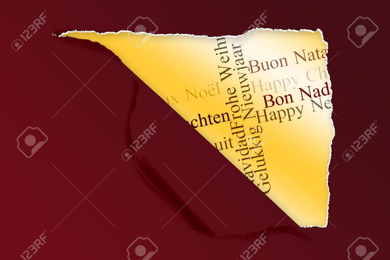 Squared hole in paper against holiday greetings in different stock squared hole in paper against holiday greetings in different languages stock photo 42638976 m4hsunfo