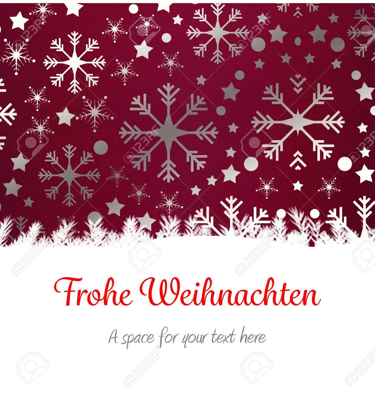 Christmas greeting in german against snowflake wallpaper pattern christmas greeting in german against snowflake wallpaper pattern stock photo 42642518 m4hsunfo