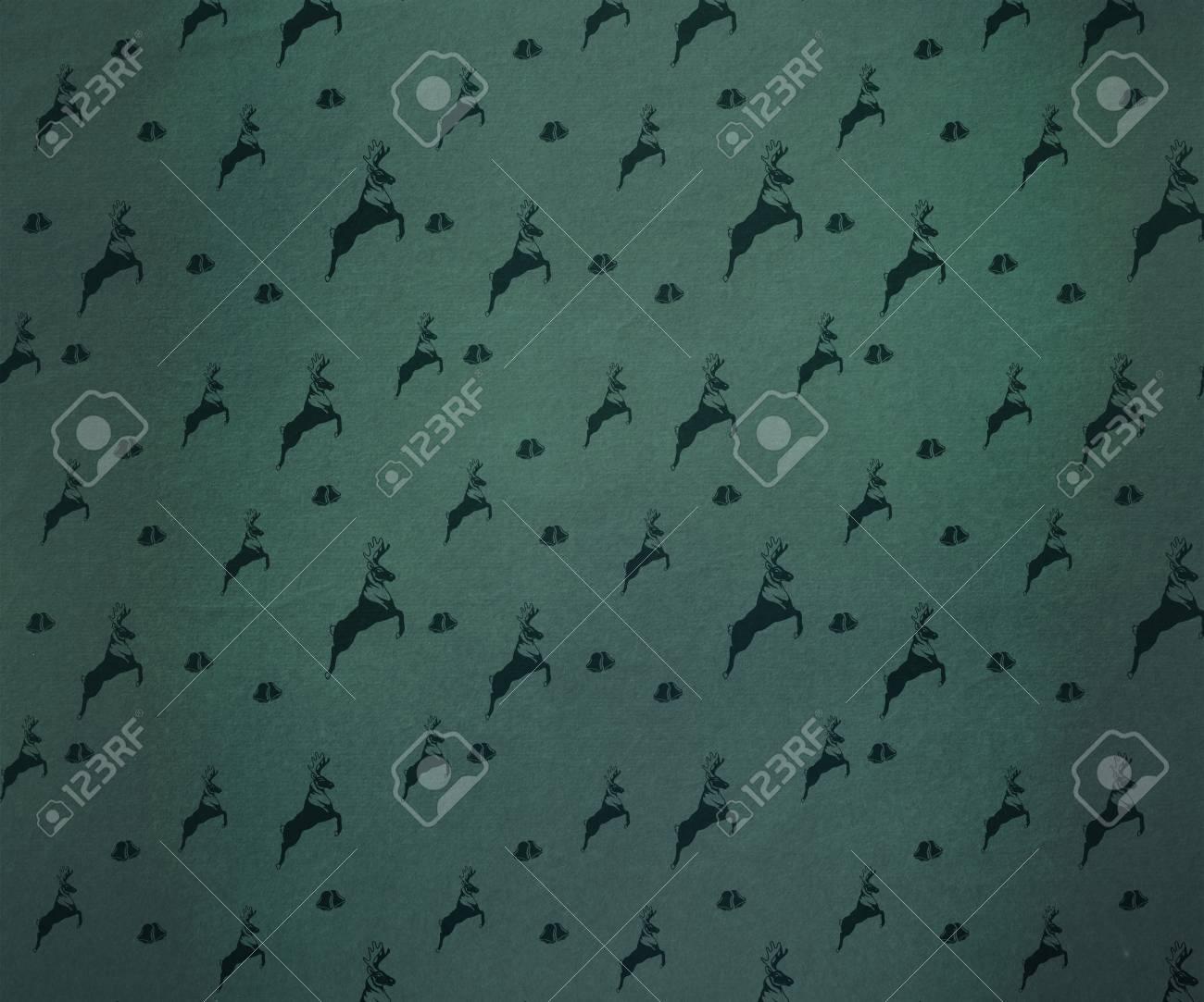 Behang Met Patroon : Digitaal gegenereerde reindeer patroon behang royalty vrije foto