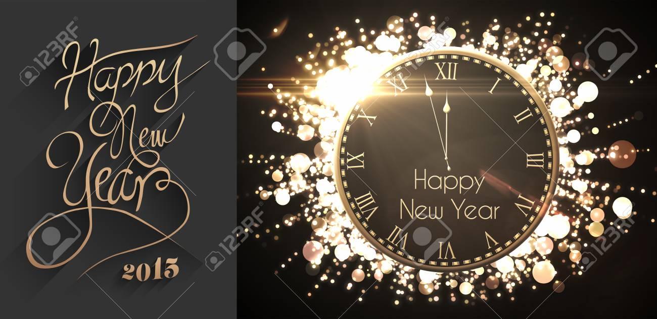 Classy Neujahr-Gruß Gegen Schwarz Und Gold Neue Jahr Nachricht ...