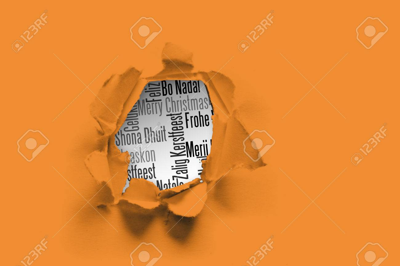 Circle hole in paper against holiday greetings in different circle hole in paper against holiday greetings in different languages stock photo 42970636 m4hsunfo