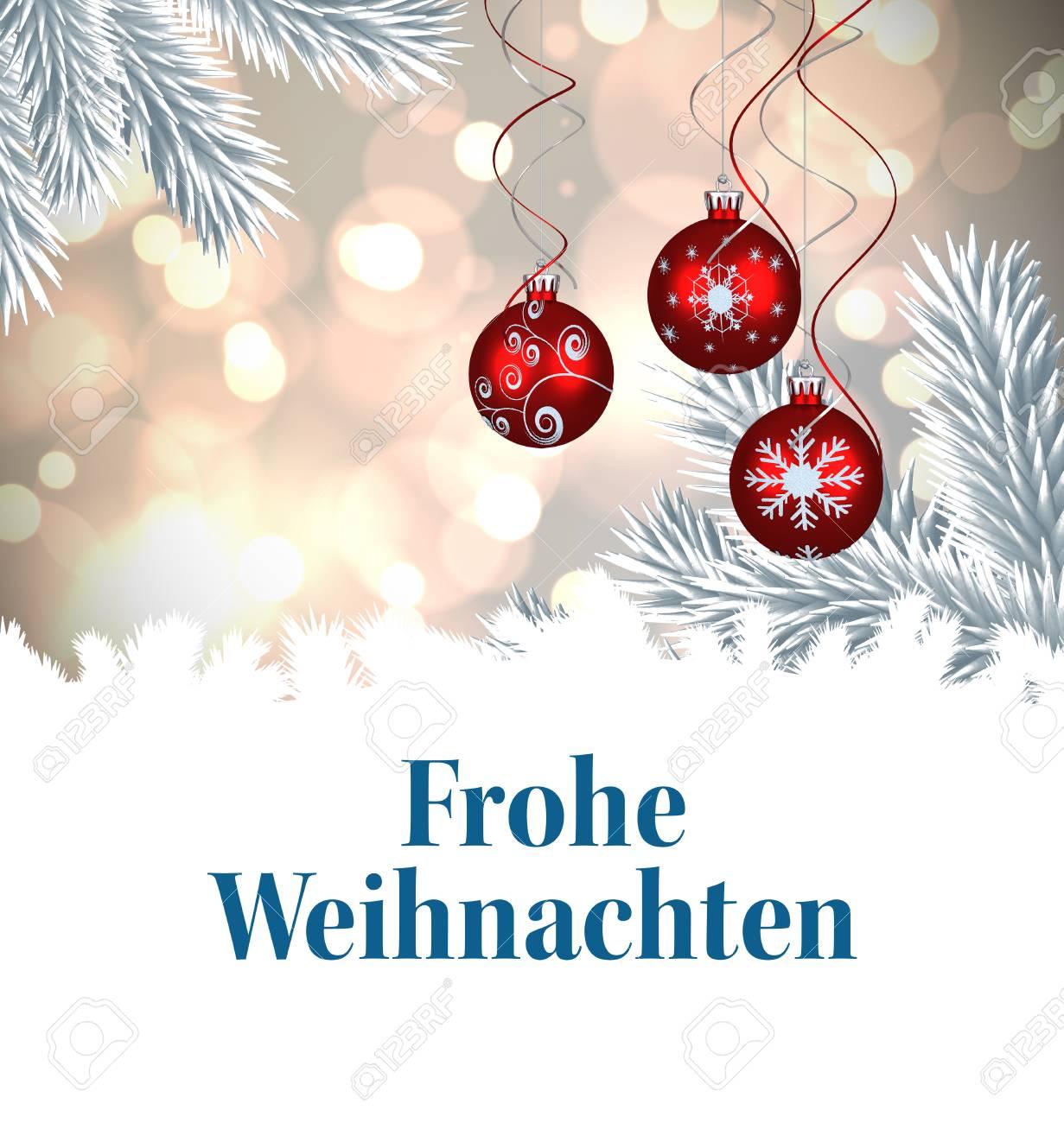 Weihnachtsgrüße Deutsch.Stock Photo