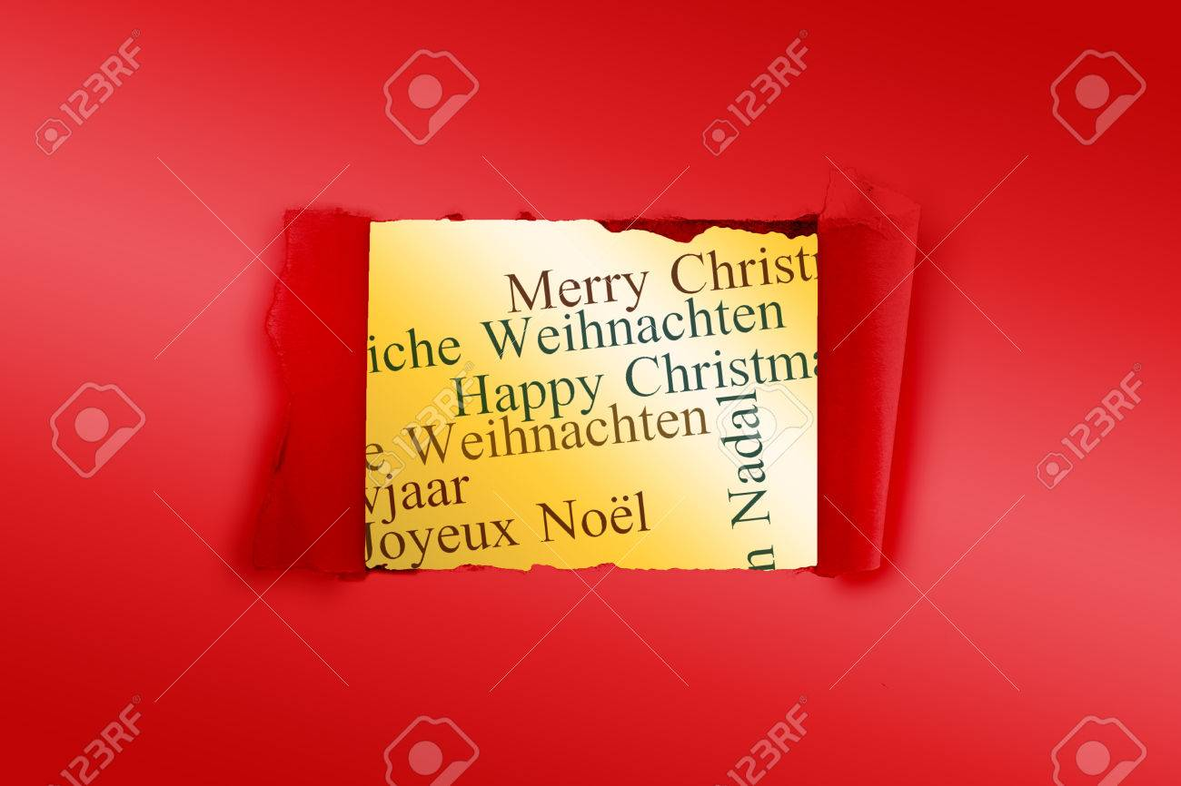 Rip in paper against holiday greetings in different languages stock rip in paper against holiday greetings in different languages stock photo 42966714 m4hsunfo