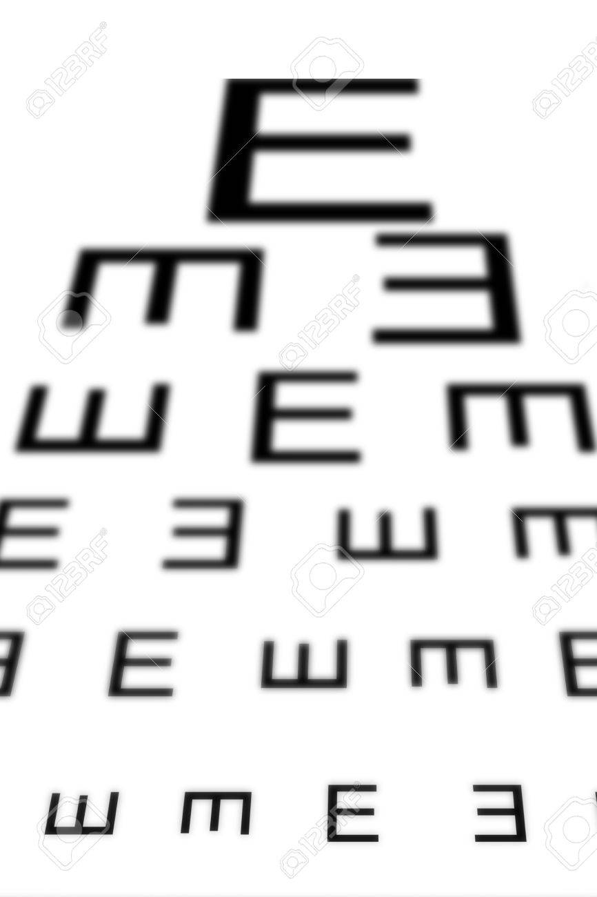An Eye Sight Test Chart With Multiple Lines Stock Photo Picture And