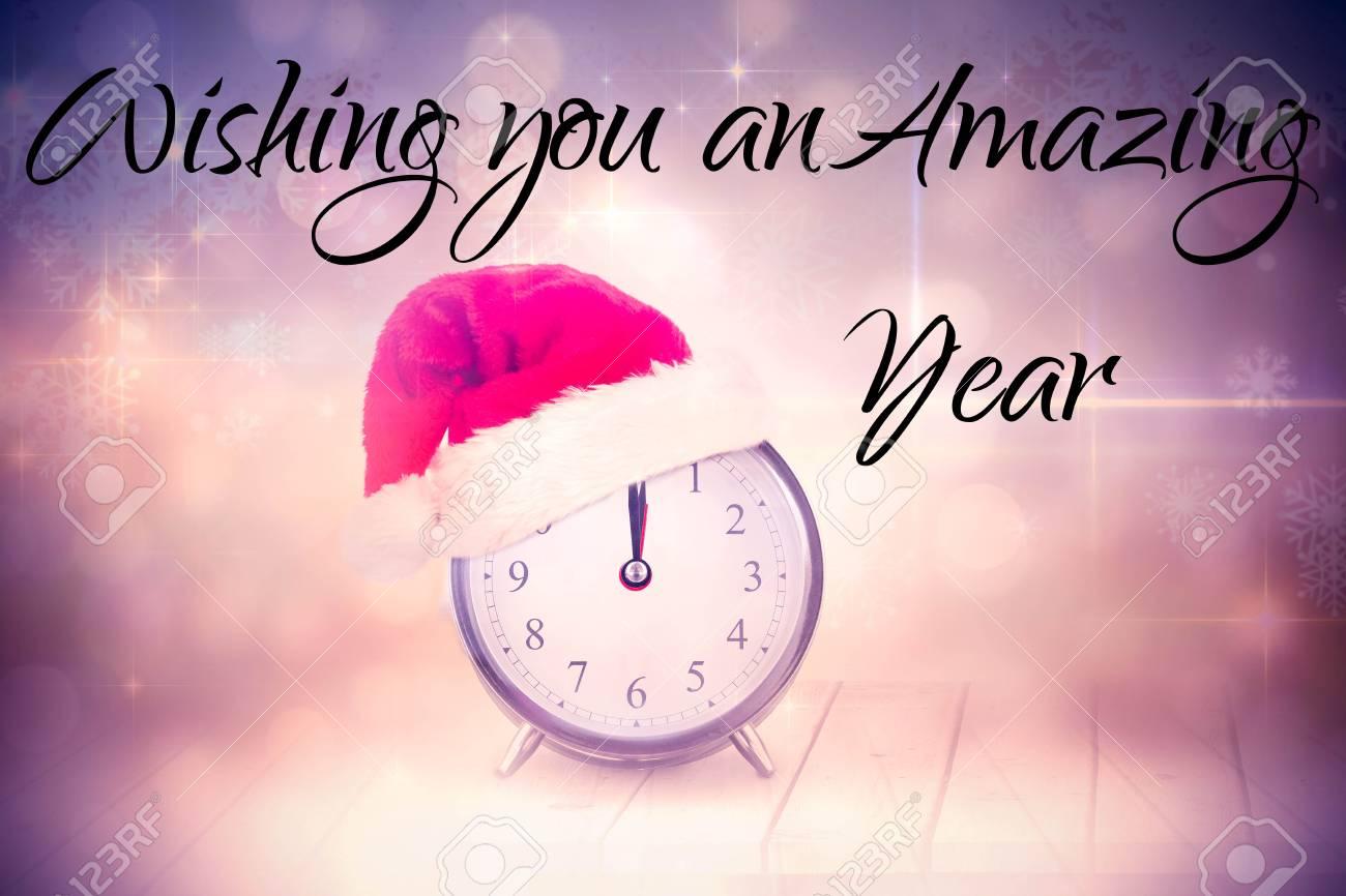 New Jahr Gegen Weihnachten Uhr Begrüßung Lizenzfreie Fotos, Bilder ...
