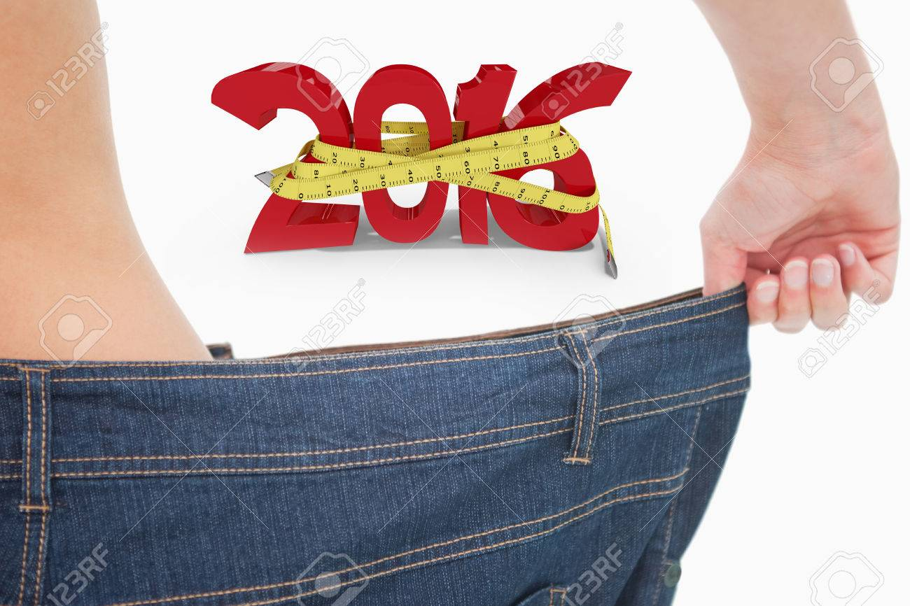 Background image too big - Close Up Of A Woman Waist In A Too Big Pants Against White Background With Vignette