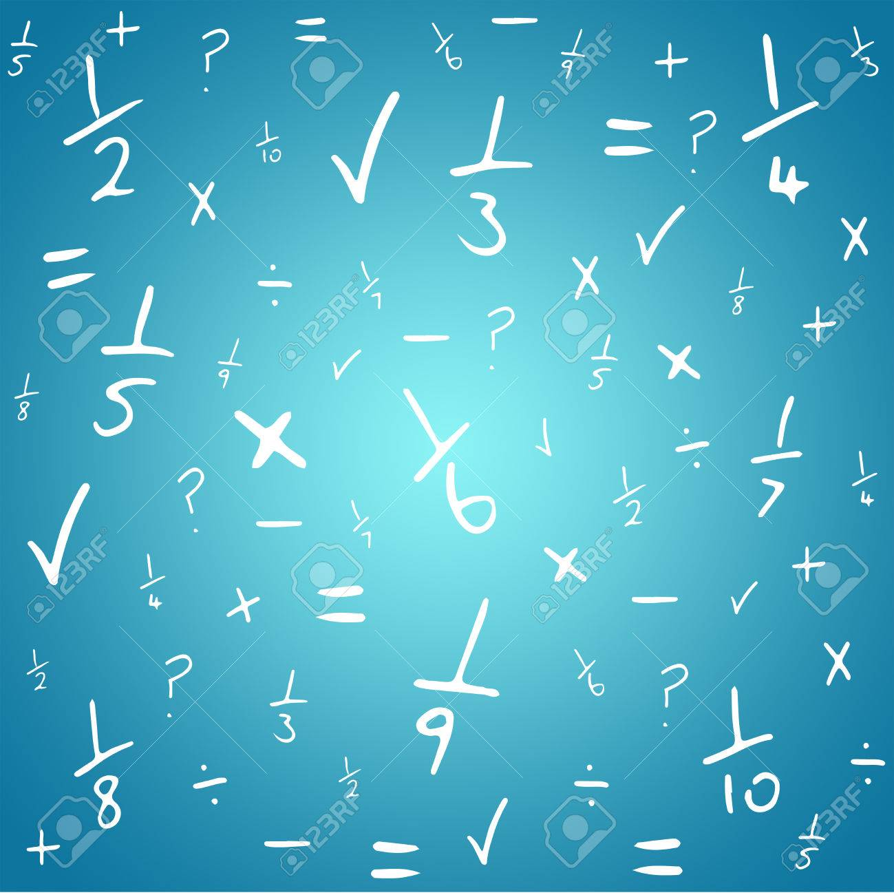 Maths Against Blue Vignette Background Stock Photo, Picture And ...