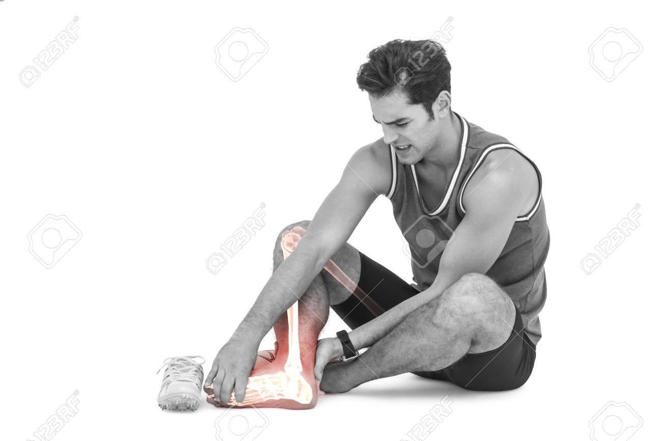 Digital Composite Von Hervorgehobenen Bein Knochen Von Verletzten ...
