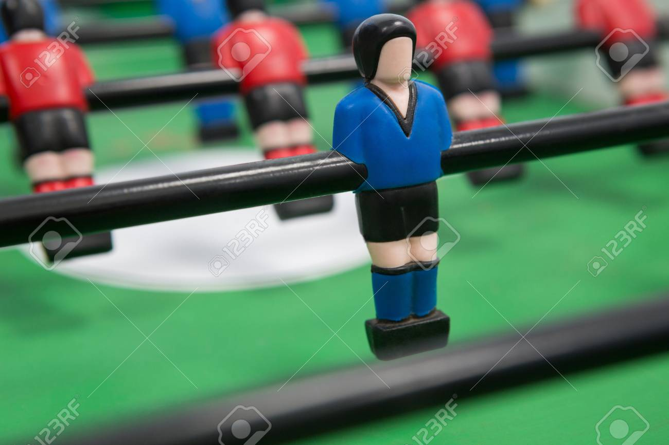 Primer Plano Del Juego De Mesa De Futbol Fotos Retratos Imagenes Y