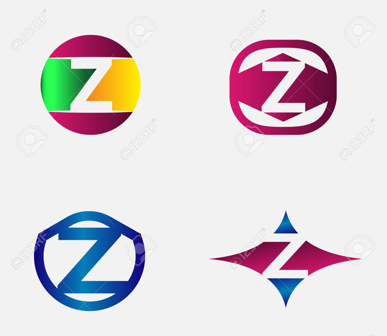 letter z alphabet vector logo design template element royalty free
