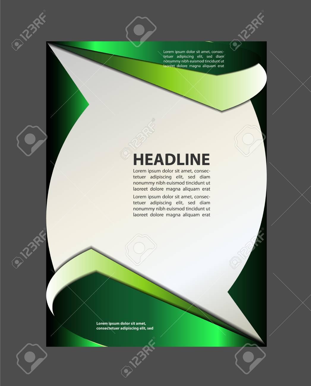 background with wave - brochure design of flyer - 54283323