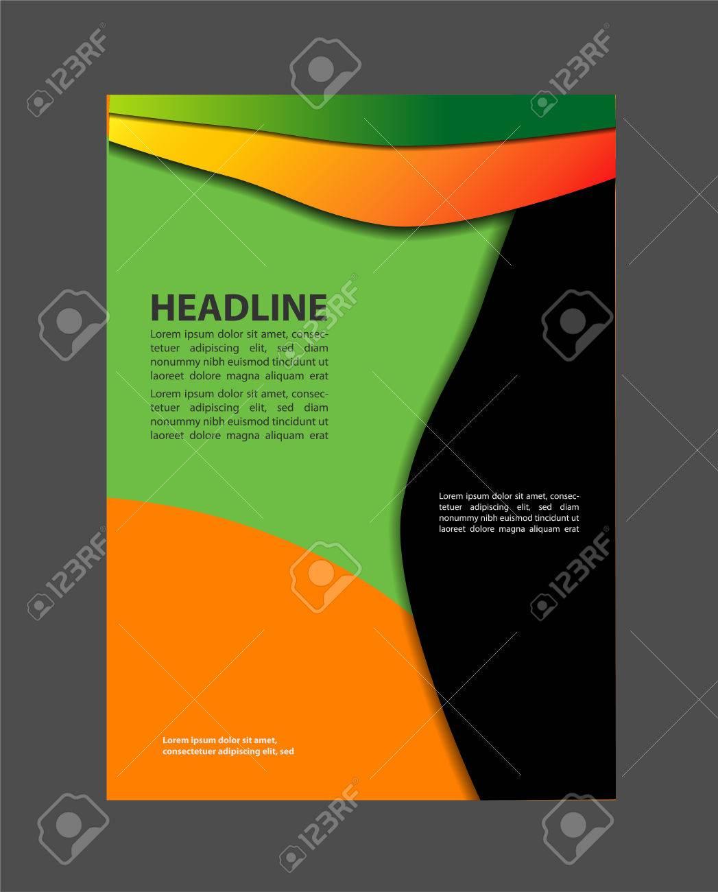 vector brochure design flyer layout templates design technology vector vector brochure design flyer layout templates design technology