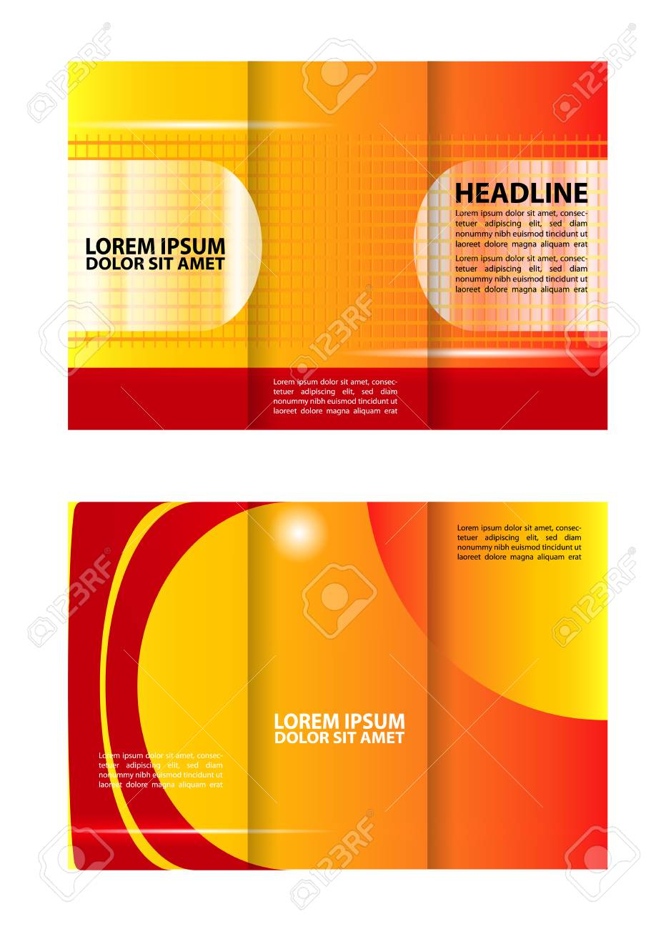 tri fold brochure business royalty free cliparts vectors and stock