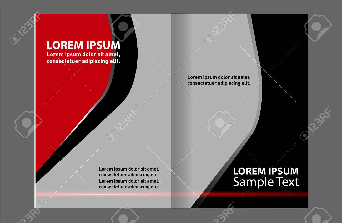 stylish presentation of business poster magazine cover layout