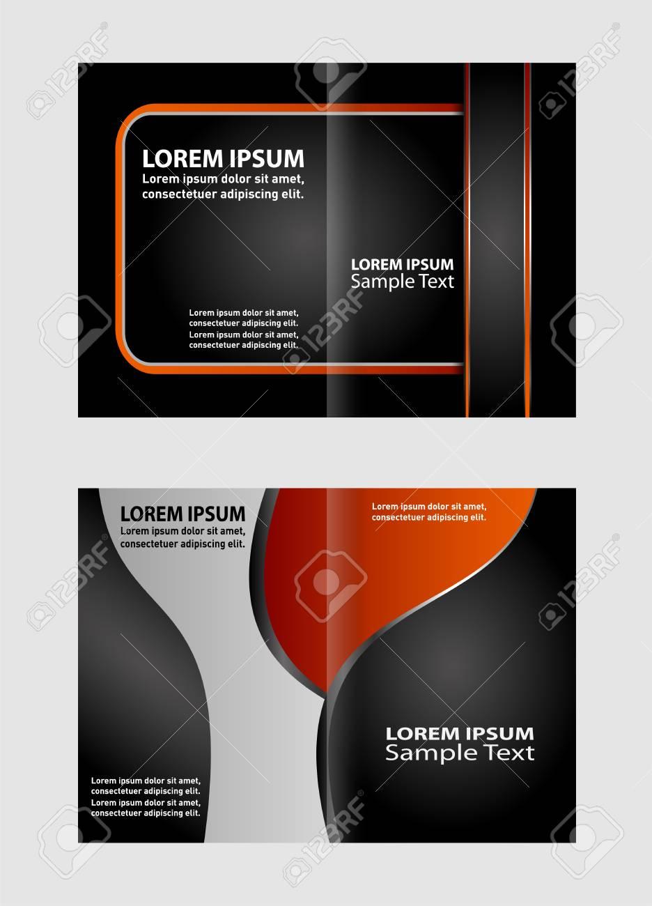 Bi Fold Brochure Design Templates Business Leaflet Booklet Royalty Free Cliparts Vectors And Stock Illustration Image 53840963