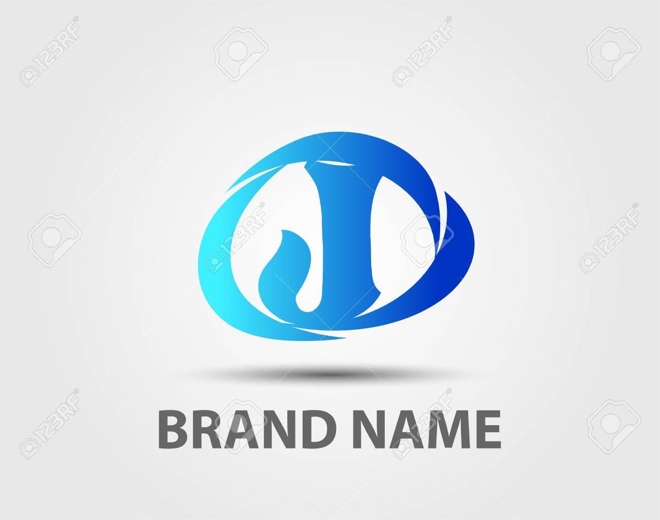 abstract logo design template letter j stock vector 54954234